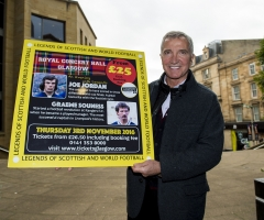24/10/16 ROYAL CONCERT HALL - GLASGOW Graeme Souness was on hand to promote the inaugural Legends of Football event