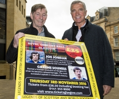 24/10/16 ROYAL CONCERT HALL - GLASGOW Jim McCalliog (left) and Graeme Souness were on hand to promote the inaugural Legends of Football event.