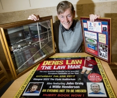 26/10/16 ROYAL CONCERT HALL - GLASGOW Jim McCalliog promoting the second Legends of Football event