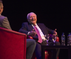 07/01/17 ARMADILLO - GLASGOW Former Celtic and Scotland player Tommy Docherty speaks at the Legends of Football event at the Armadillo