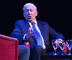 07/01/17 ARMADILLO - GLASGOW Rangers legend John Greig speaks at a Legends of Football event at the Armadillo