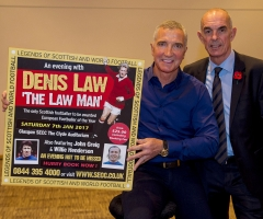 03/11/16 ROYAL CONCERT HALL - GLASGOW Former footballers Graeme Souness (left) and Joe Jordan were on hand at the Legends of Football event.