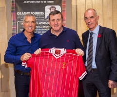03/11/16 - 16110312 - LEGENDS OF FOOTBALL GLASGOW CONCERT HALL Football legends Joe Jordan and Graeme Souness were on hand at the Legends of Football event.