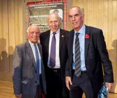 03/11/16 - 16110312 - LEGENDS OF FOOTBALL GLASGOW CONCERT HALL Joe Jordan (right)