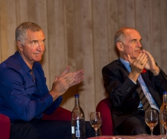 03/11/16 - 16110312 - LEGENDS OF FOOTBALL GLASGOW CONCERT HALL Graeme Souness and Joe Jordan (right)